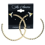 Gold-Tone Metal Hoop-Earrings #1019
