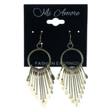 Gold-Tone Metal Dangle-Earrings #1033