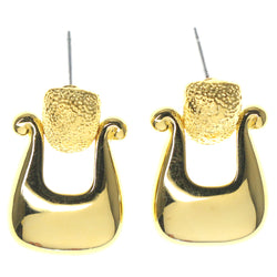 Gold-Tone Metal Dangle-Earrings #1193