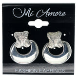 Silver-Tone Metal Dangle-Earrings #1213
