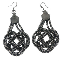 Silver-Tone Metal Dangle-Earrings #1372