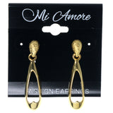 Gold-Tone Metal Dangle-Earrings #1454