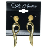 Gold-Tone Metal Dangle-Earrings #1456