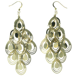 Gold-Tone Metal Chandelier-Earrings #1463