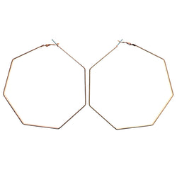 Gold-Tone Metal Hoop-Earrings #1555