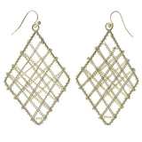 Gold-Tone Metal Dangle-Earrings #1583