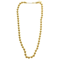 Adjustable Length Beaded-Necklace Gold-Tone Color  #2685