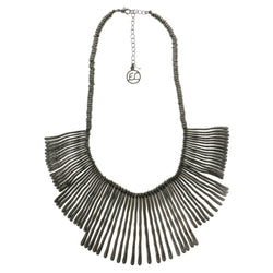 Adjustable Length Statement-Necklace Black Color  #2690