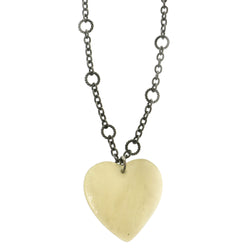 Heart Adjustable Length Pendant-Necklace With Stone Accents Silver-Tone & White Colored #2608
