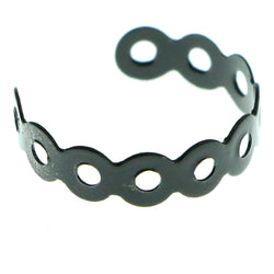 Adjustable Circle Toe-Ring Black Color  #4450