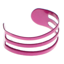 Adjustable Triple Band Toe-Ring Pink Color  #4447