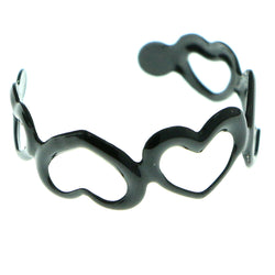 Adjustable Heart Toe-Ring Black Color  #4446