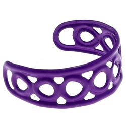 Adjustable Infinity Symbol Toe-Ring Purple Color  #4444
