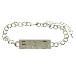 Mi Amore Bad 2in Extender Bangle-Bracelet Silver-Tone