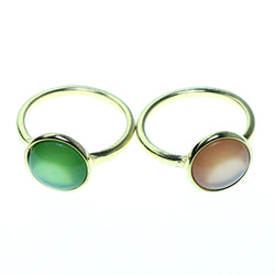 Mi Amore 2 PC  Sized-Ring Gold-Tone/Multicolor Size 8.00
