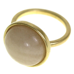Mi Amore Sized-Ring Gold-Tone/Peach Size 8