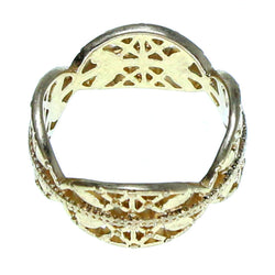 Mi Amore Sized-Ring Gold-Tone Size 9.00