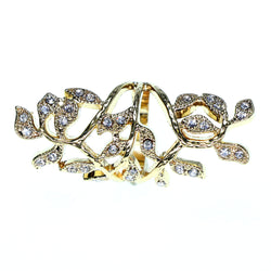 Mi Amore Sized-Ring Gold-Tone/Clear Size 9.00