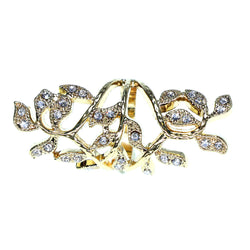 Mi Amore Sized-Ring Gold-Tone/Clear Size 8.00