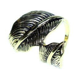 Mi Amore Leaf Sized-Ring Gold-Tone Size 7.00