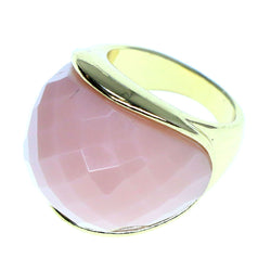 Mi Amore Sized-Ring Gold-Tone/Pink Size 9.00