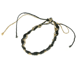 Mi Amore Braided Bangle-Bracelet Black/Tan