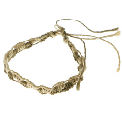 Mi Amore Braided Bangle-Bracelet Brown/Tan