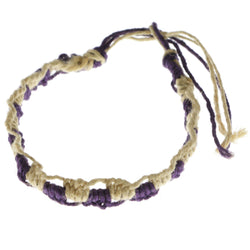 Mi Amore Braided Bangle-Bracelet Purple/Tan