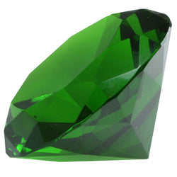 Mi Amore Crystal Jewel Shaped Decorative-Paper-Weight Green