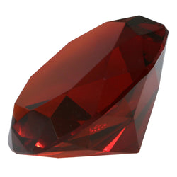 Mi Amore Crystal Jewel Shaped Decorative-Paper-Weight Red