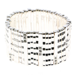Erica Lyons Crystal Accented Stretch-Bracelet Silver-Tone