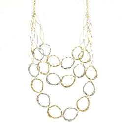Erica Lyons Adjustable Layered-Necklace Gold-Tone/Silver-Tone