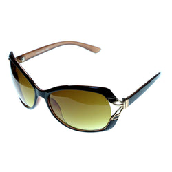 Mi Amore Oversize-Sunglasses Brown Frame/Yellow Lens