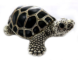 Turtle shaped jewelry holder made of metal alloy JHS11
