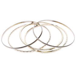 Mi Amore 5 Bracelet set Bangle-Bracelet Gold-Tone