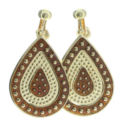 Mi Amore Clip-On-Earrings Gold-Tone/Brown