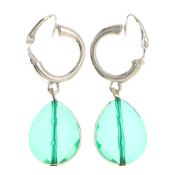 Mi Amore Clip-On-Earrings Silver-Tone/Green
