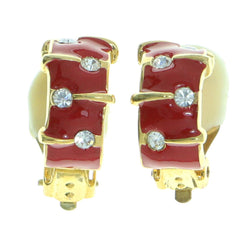 Mi Amore Clip-On-Earrings Gold-Tone/Red