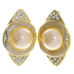 Mi Amore Clip-On-Earrings Gold-Tone/Tan