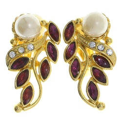 Mi Amore Clip-On-Earrings Gold-Tone/Purple