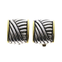 Mi Amore Clip-On-Earrings Silver-Tone/Gold-Tone