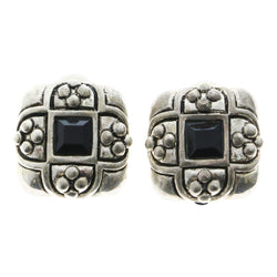 Mi Amore Clip-On-Earrings Silver-Tone/Black