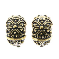 Mi Amore Clip-On-Earrings Gold-Tone/Black