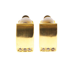 Mi Amore Crystal Accents Clip-On-Earrings Gold-Tone