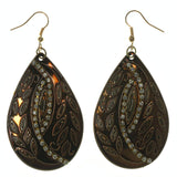 Gold-Tone & Silver-Tone Metal Dangle-Earrings With Crystal Accents