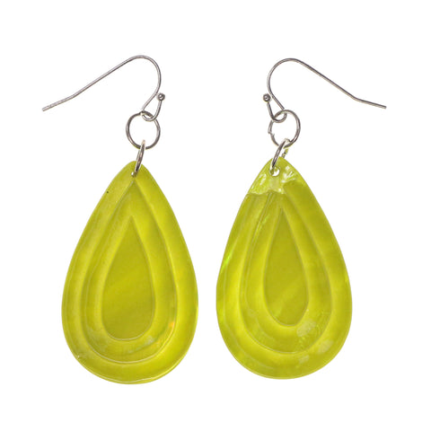 Shell Dangle-Earrings Green Color #LQE1642