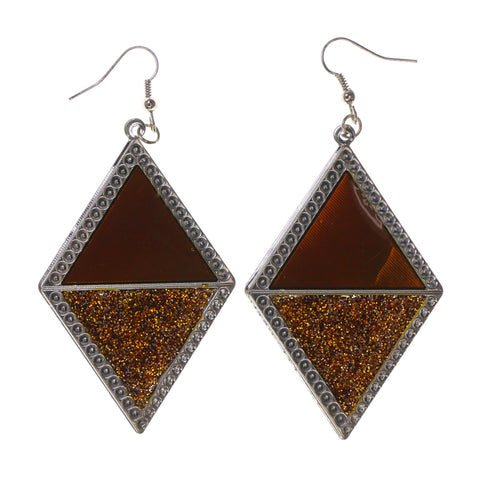 Colorful  Glitter Sparkle Dangle-Earrings #LQE1656