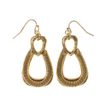 Gold-Tone Metal Dangle-Earrings #LQE1661