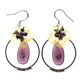 Colorful  Flower Dangle-Earrings #LQE1729