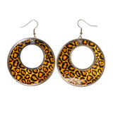 Colorful  Shell Cheetah Print Dangle-Earrings #LQE1762